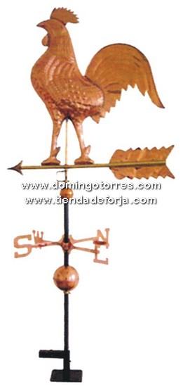V-98 Veleta de tejado en cobre con gallo