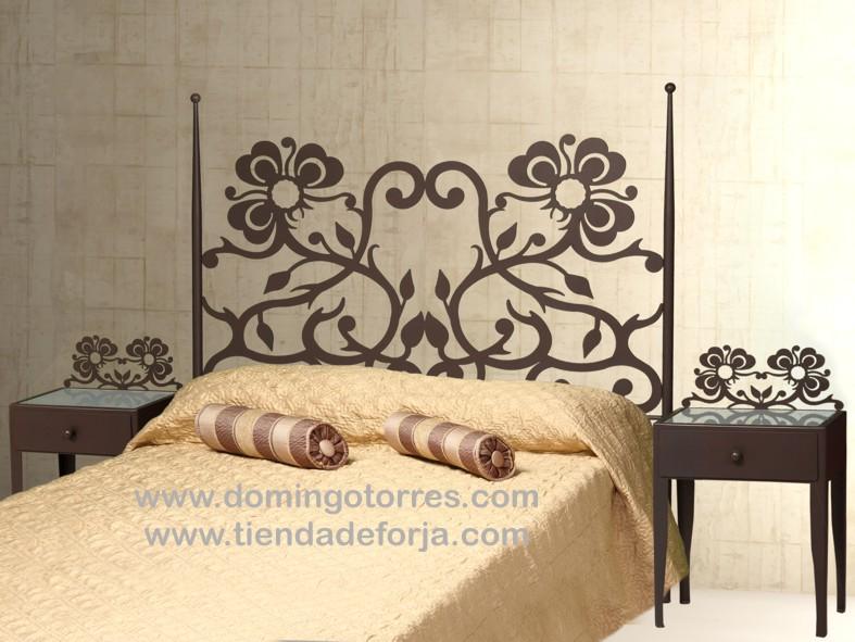 Cabecero y cama de forja moderna c 66 forja domingo - Cabeceros de forja de diseno ...