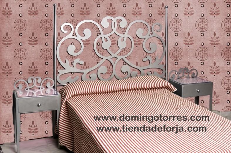 Cabecero y cama de forja elegante c 71 forja domingo torres s l - Cabeceros cama de forja ...