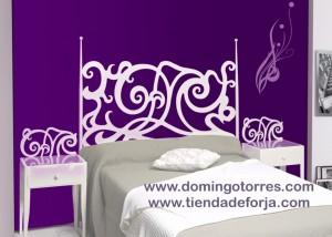 Cama de forja para dormitorio c 75 forja domingo torres s l for Cama de forja blanca