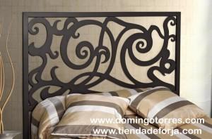 Cabecero y cama de forja blanca para dormitorio moderno y - Cama forja blanca ...