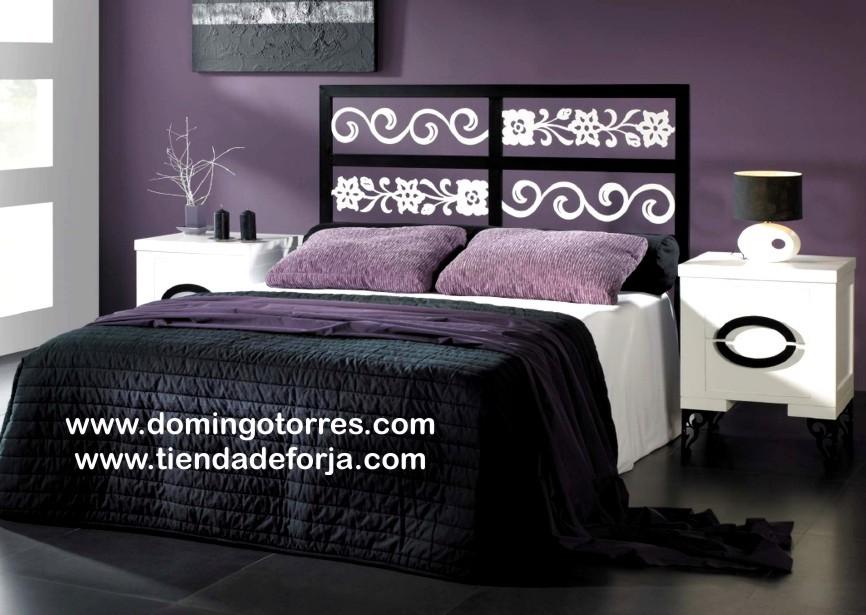 Cabecero y cama para dormitorio forja c 77 forja domingo - Cabeceros de madera y forja ...