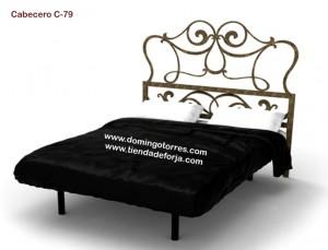 Cabezal cabecero y cama de forja moderna c 79 gata for Cabecero hierro forjado
