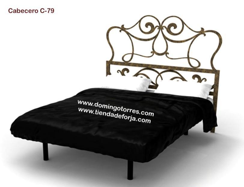Cabezal cabecero y cama de forja moderna c 79 gata - Cabecero hierro forjado ...
