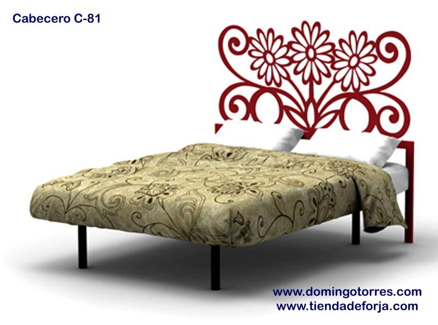 Cabezal cabecero y cama de forja moderno y elegante c 81 - Cabecero hierro forjado ...
