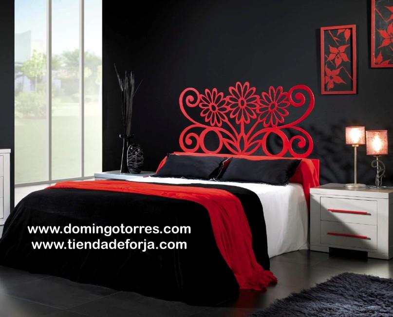 Cabezal cabecero y cama de forja moderno y elegante c 81 - Cabeceros de cama de diseno ...