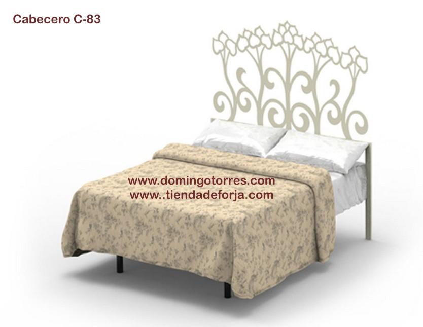 Cabecero cabezal y cama de forja con tulipanes c 83 elodie forja domingo torres s l - Camas de forja blancas ...