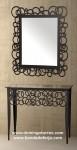 Consola y espejo de hierro forjado CE-28