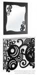 Espejo y consola de forja artística CE-31