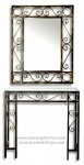 Espejo y consola de forja rústica CE-35