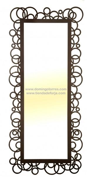 espejo de pared de forja moderna ce