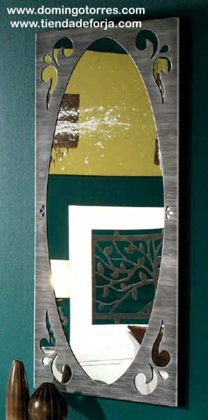 Espejo de forja artística y moderna CE-59