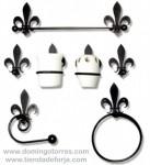 Artículos para baño en forja: toallero forja, percha forja... BÑ-8