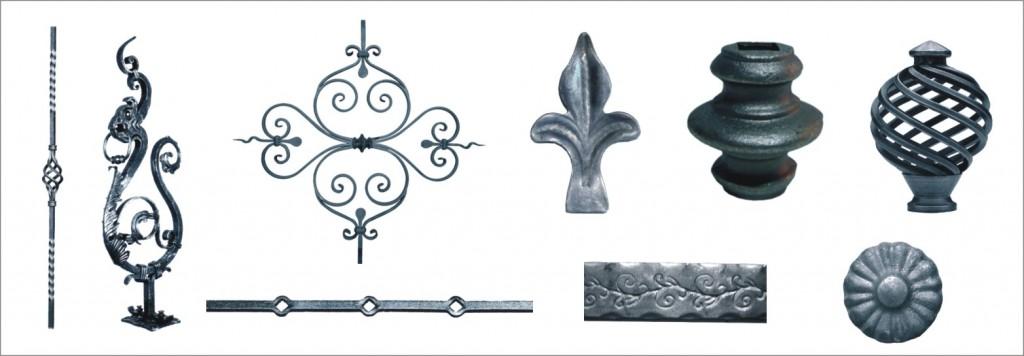 Piezas de forja para baranda, rejas, balcones y cancelas