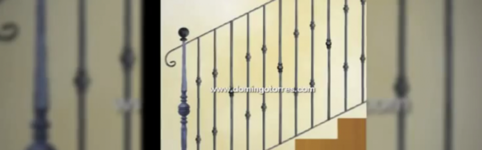 Barandas escaleras y barandillas de forja art stica con for Barandillas escaleras interiores precios