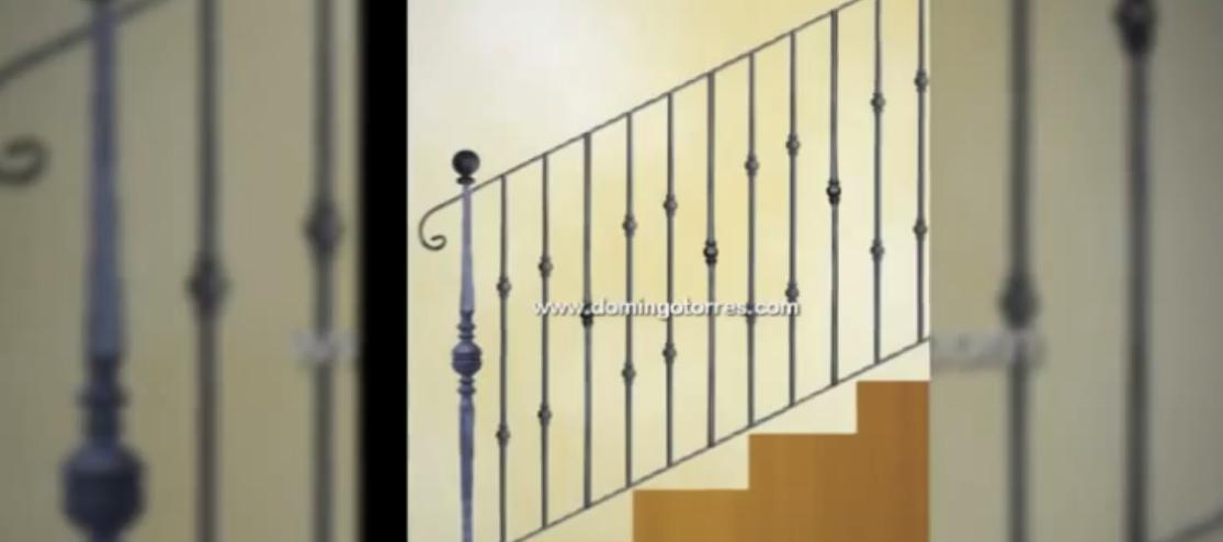 barandas escaleras y barandillas de forja con madera latn o cristal
