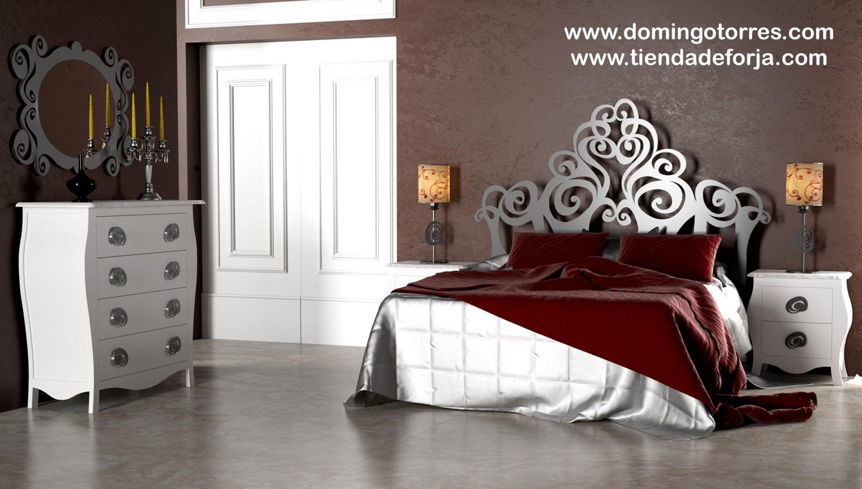 Cama cabezal y cabecero moderno de forja c 107 gizane - Diseno de cabeceros de cama ...