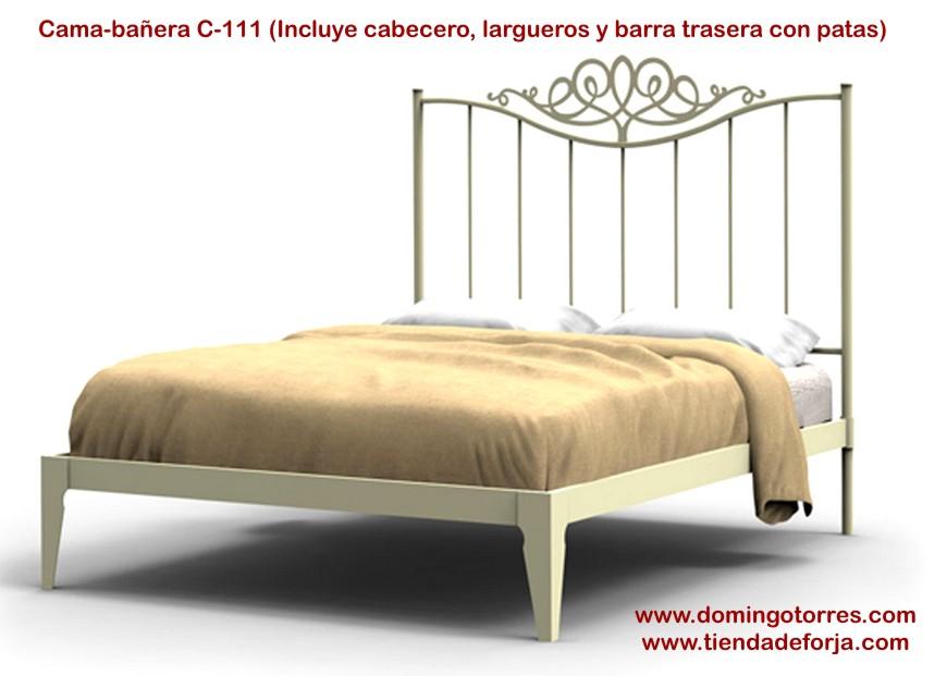 Cabecero y cama sencilla de forja c 111 pilar forja for Cama sencilla
