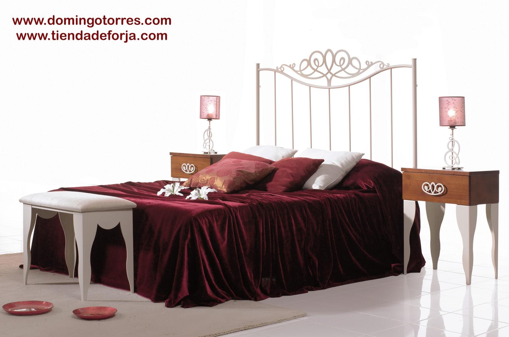 Cabecero y cama sencilla de forja c 111 pilar forja - Cabeceros cama de forja ...