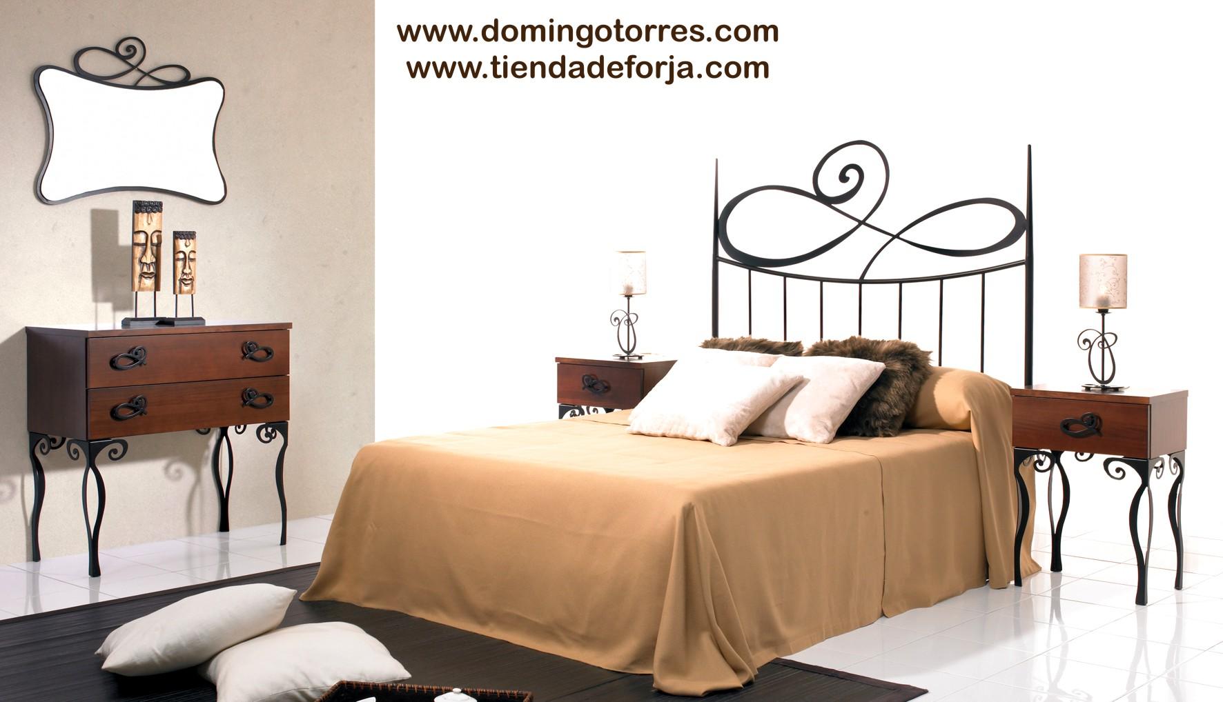 Cama y cabecero sencillo de forja moderna c 112 elena - Cabeceros cama de forja ...
