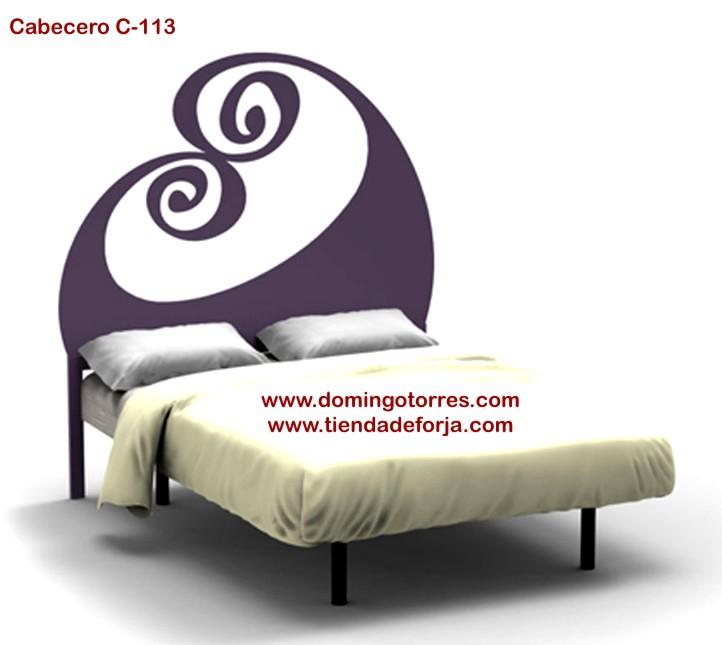 C-113 Cabecero dormitorio juvenil de forja olas