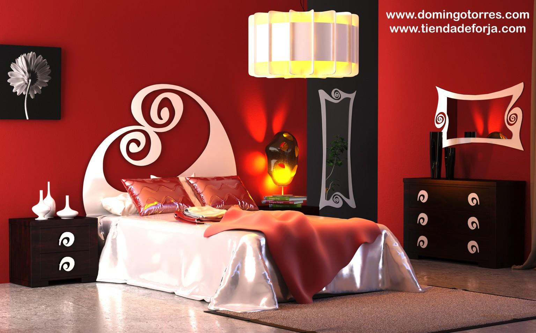 Cabecero y cama de forja para dormitorio juvenil C-113 olas ‹ Forja ...