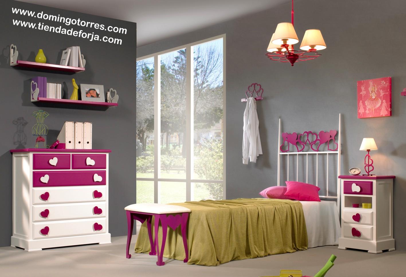 Cama cabecero y litera de forja para dormitorio infantil - Cabeceros de forja infantiles ...