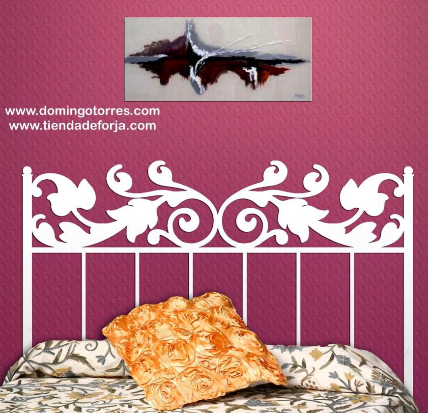 Cama y cabecero de hierro forjado c 124 forja domingo - Cabeceros de cama de hierro ...