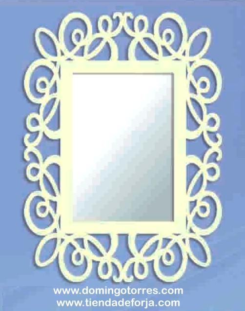 CE-66 Espejo de pared en forja ornamental