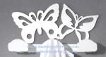 PE-28 Percha de forja juvenil con mariposas