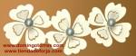 PE-37 Percha barata de forja con flores