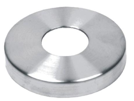 551-INOX Tapa base redonda de acero inox satinado AISI304