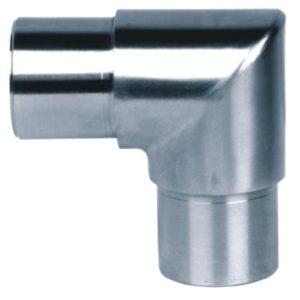 610-INOX Conector de tubos a 90º acero inox satinado