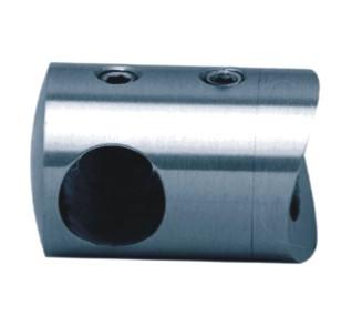 771-INOX Soporte ciego para barra o tubo inox redondo satinado