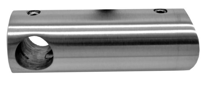 774-INOX Soporte largo para barra redonda inox satinado