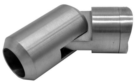 777-INOX Soporte regulable barra redonda inox satinado