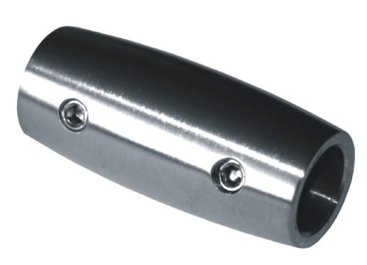779-INOX Conector recto de barras inox satinado