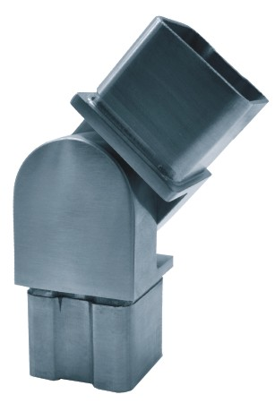 832-INOX Conector regulable tubo cuadrado inox satinado de 40x40x2,0mm