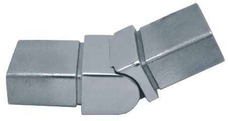 832-INOX-R Conector regulable rectangular inox satinado 40x20x2,0mm