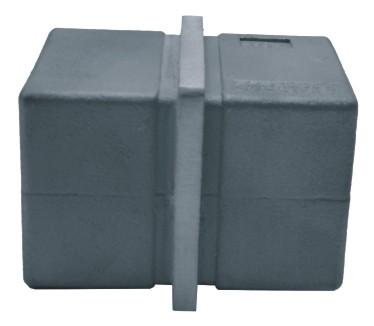 833-INOX Conector empalme de tubo cuadrado inoxidable AISI304 40x40x2,0mm