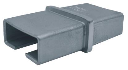 833-INOX-R Empalme conector de tubos rectangulares inox satinado 40x20x2,0mm