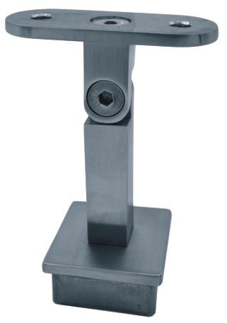 835-INOX Soporte regulable cuadrado inoxidable satinado 40x40x2mm