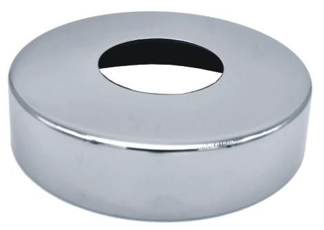 2551-INOX Tapa base en acero inoxidable espejo para tubo
