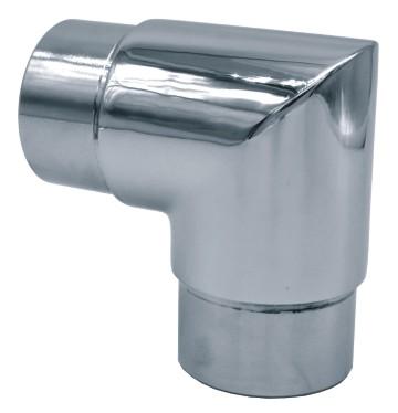 2610-INOX Codo conector de tubos a 90º en inoxidable espejo