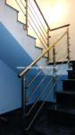 Nº8016 Barandilla acero inoxidable barras y pinzas con vidrio modelo Guadalajara