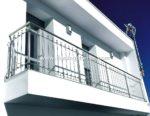 Nº8023 Balcón y baranda acero inoxidable modelo Granada