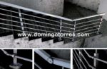 Nº8047 Barandilla de acero inoxidable cuadrado modelo A Coruña