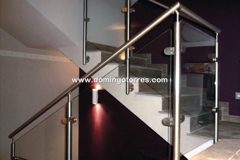 Nº8417 Barandilla de acero inoxidable con vidrio modelo Islas Canarias
