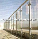 Nº8422 Barandilla lateral de vidrio con pinzas de acero inoxidable