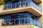 Nº8439 Fotos de balcones grandes corridos de acero inox con vidrio
